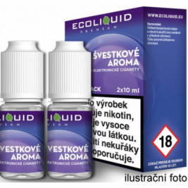 Liquid Ecoliquid Premium 2Pack Plum 2x10ml - 0mg (Švestka)