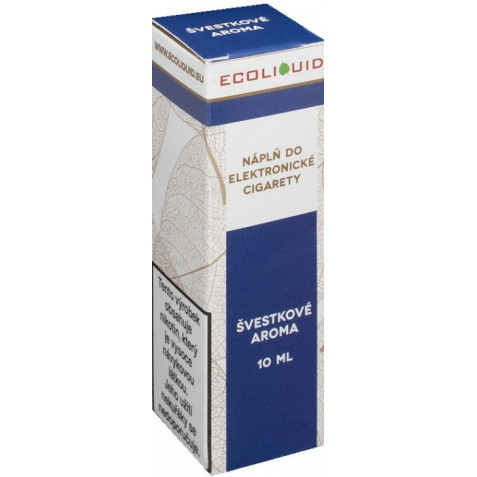 Liquid Ecoliquid Plum 10ml - 12mg (Švestka)