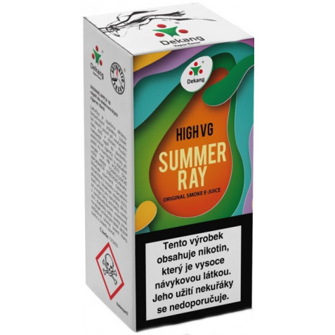 Liquid Dekang High VG Summer Ray 10ml - 3mg (Ovocná směs)