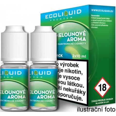 Liquid Ecoliquid Premium 2Pack ICE Melon 2x10ml - 3mg (Svěží meloun)