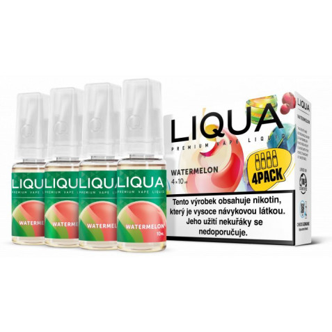 Liquid LIQUA CZ Elements 4Pack Watermellon 4x10ml-6mg (Vodní meloun)