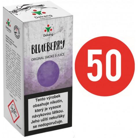 Liquid Dekang Fifty Blueberry 10ml - 3mg (Borůvka)