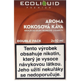 Liquid Ecoliquid Premium 2Pack Coconut Coffee 2x10ml - 20mg