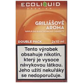 Liquid Ecoliquid Premium 2Pack Griliášové aroma 2x10ml - 20mg