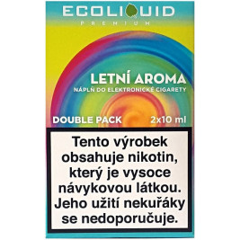 Liquid Ecoliquid Premium 2Pack Summer flavor 2x10ml - 20mg