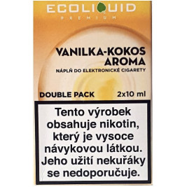 Liquid Ecoliquid Premium 2Pack Vanilla Coconut 2x10ml - 3mg